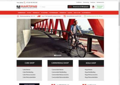 Homepage webshop nieuwe site