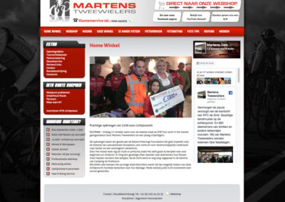 Homepage oude site