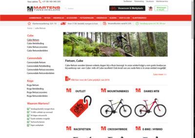 Productcategoriepagina nieuwe site